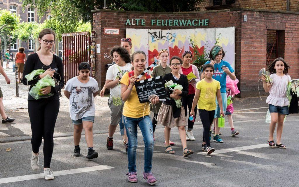 Ebertplatz Hirsche, Kinder erforschen ihren Stadtteil Agnesviertel und Eigelstein