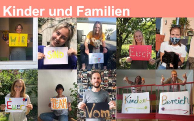 Mitarbeiter*innen des Bereich Kinder und Familien in der Alten Feuerwache Köln