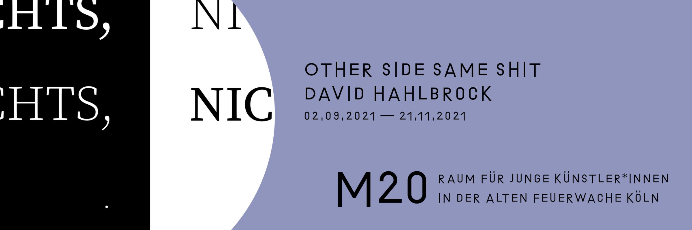David Hahlbrock: Other Side Same Shit